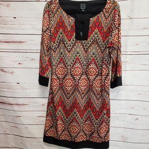 RMLL fall floral dress Tunic style dress sz 12